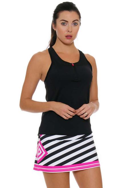 Allie Burke Women's Stripe Pink Geo Tennis Skirt AB-BSKT01-031