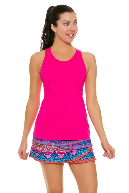 Lucky In Love Women's Core Rio Scallop Multi Tennis Skirt