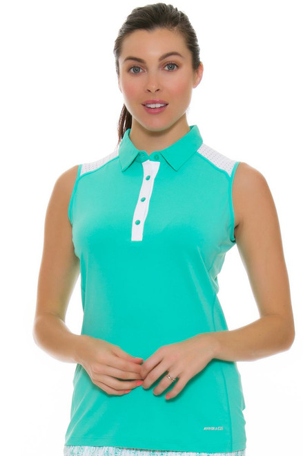 Annika Women's Glass Beach Pria Golf Sleeveless Polo