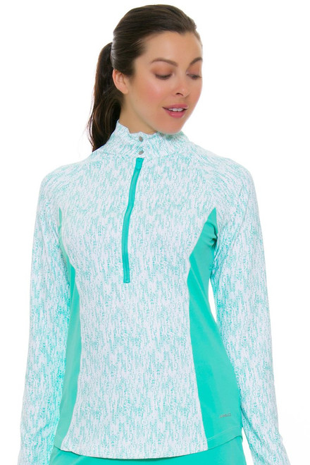 Annika Women's Glass Beach Rain Half-Zip Golf Long Sleeve Top