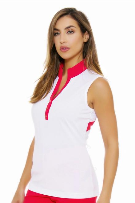 EP Pro NY Women's Poppy Fields Contrast Blocking Golf Sleeveless Shirt