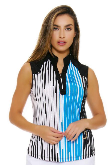 Jamie Sadock Women's Aquarius Pin Stripe Golf Sleeveless