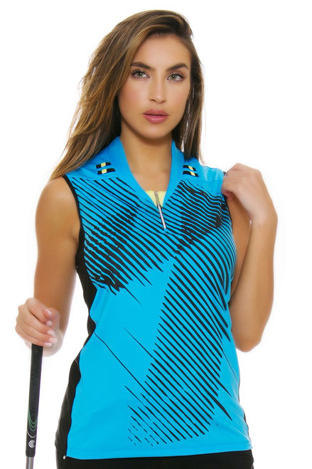 Jamie Sadock Women's Aquarius Bitmap Print Golf Sleeveless