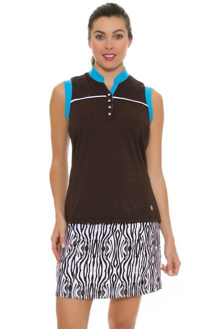 GGBlue Women's Serengeti Marker Zebra Pull On Golf Skort