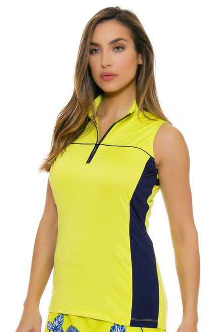 EP Pro NY Women's Palmetto Contrast Blocking Golf Sleeveless Shirt