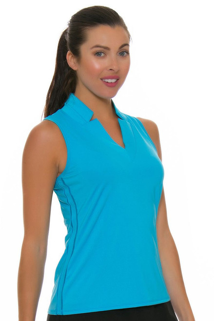 Lucky In Love Women's Divine Chi Chi Ocean Golf Sleeveless Shirt