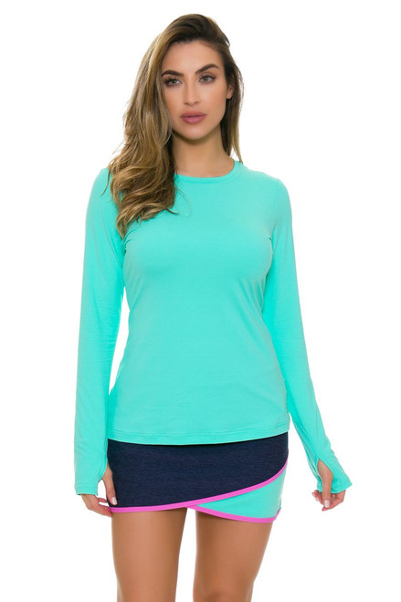 "Sofibella Women's Nautical Navy Scallop Front 15"" Tennis Skirt"