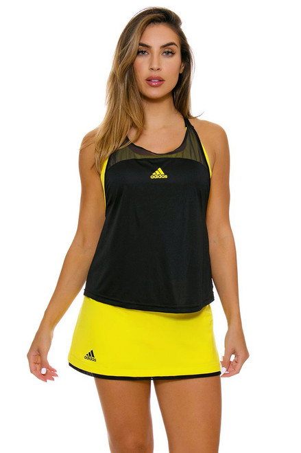 Adidas Women's US Open Bright Yellow Tennis Skirt A-CE7677 Image 4