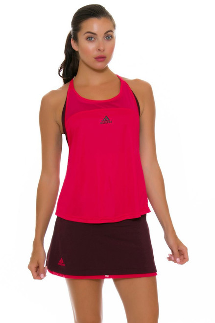 Adidas Women's US Open Dark Burgundy Tennis Skirt A-BQ9493 Image 4