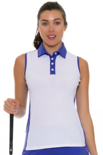 Redvanly Women's Gratten Periwinkle Sleeveless Polo