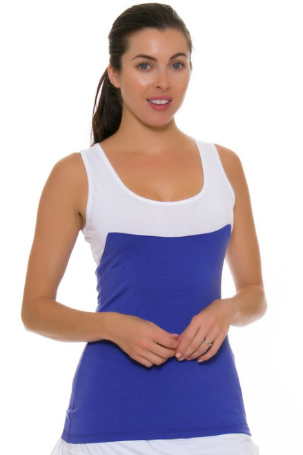 Redvanly Women's Bainbridge Periwinkle Tennis Tank RV-4257
