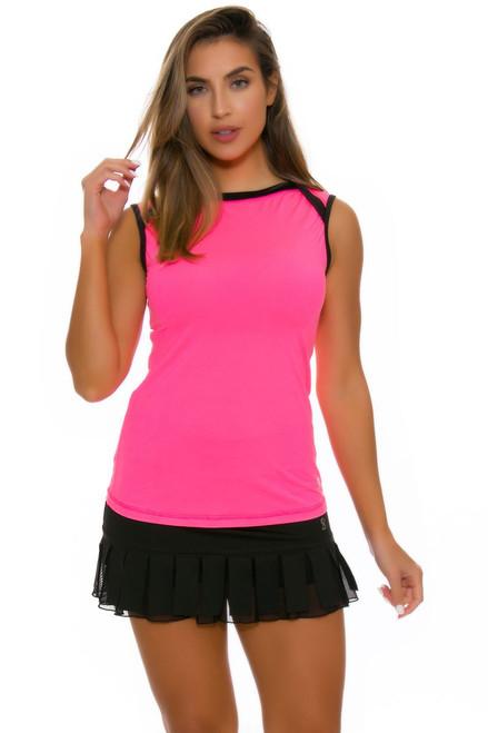 Sofibella Women's Black Tennis Skirt   Dark Night Collection