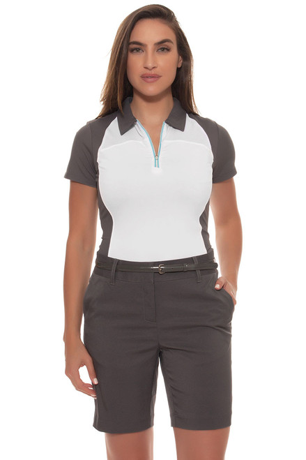 Annika Women's Grey Sage Golf Short | Sky Above Collection