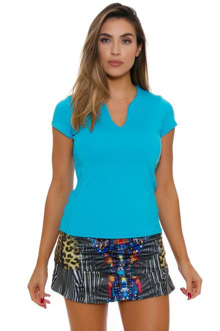 Lucky In Love Women's Core Foxy Scallop Multi Tennis Skirt