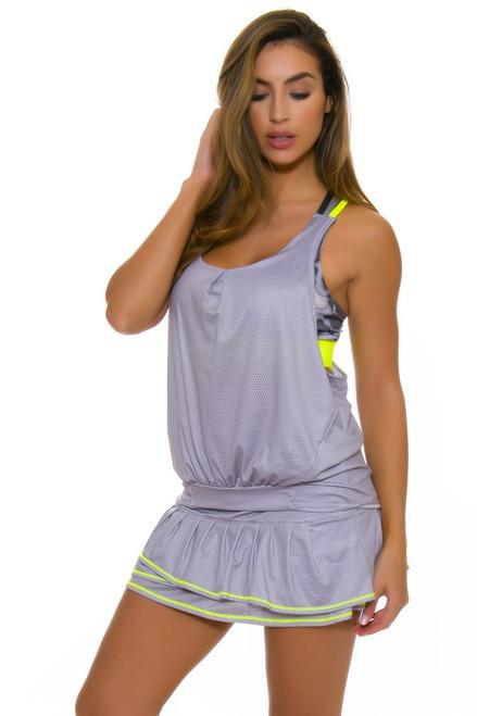 Lucky In Love Women's Love Not War Long Soft Metal Pleat Tier Tennis Skirt