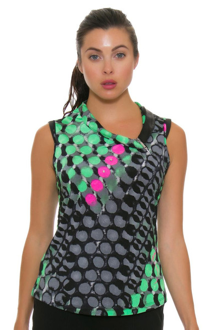 Jamie Sadock Women's Emerald Asymmetrical Neck Golf Sleeveless