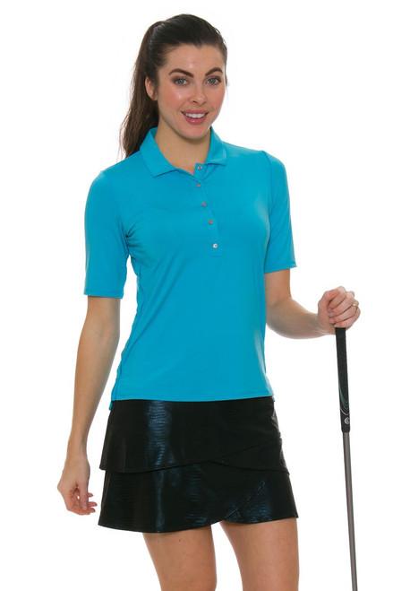 Lucky In Love Women's Metallic Slither Golf Skort LIL-GB14-001 Image 1