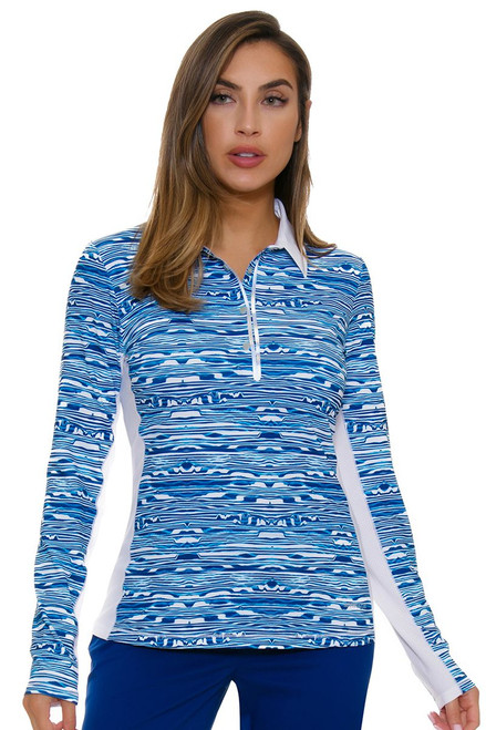 Annika Women's Warrior Zennith Golf Long Sleeve Polo