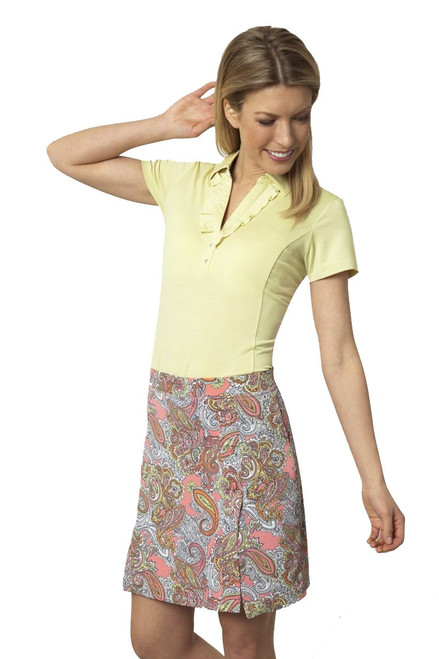 Paisley Print Golf Pull-On Skort