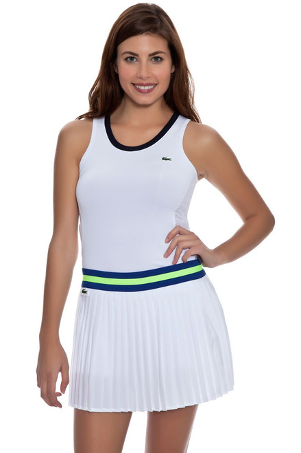 Contrast Waistband Pleated Tennis Skirt LC-JF5972-51-White Image 2