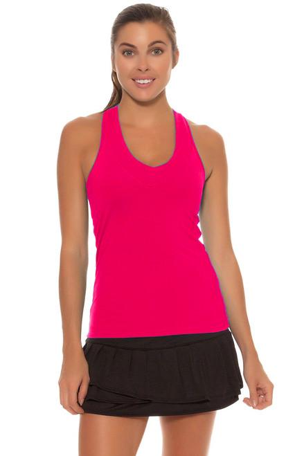 Lucky In Love Women's Core Bottoms Long Pleated Black Tennis Skirt LIL-CB125-Black Image 1