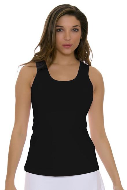 Sofibella Women's Athletic Black Tennis Tank Top SFB-7009-Black