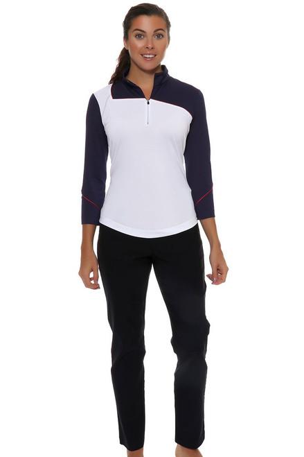 EP Pro Women's Basics Slimming Ankle Length Navy Golf Pants