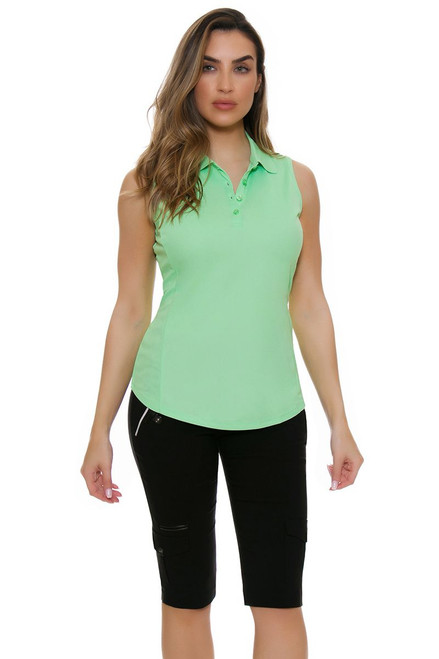 Jamie Sadock Women's Emerald Skinnylicious Black Pull On Golf Capri