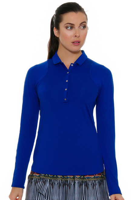 Lucky In Love Women's Foxy Le Snap Prep Sapphire Golf Long Sleeve