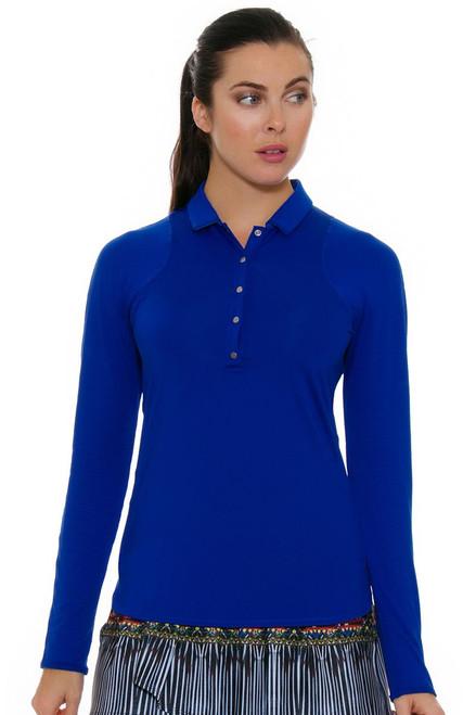 Lucky In Love Women's Foxy Le Snap Prep Sapphire Golf Long Sleeve