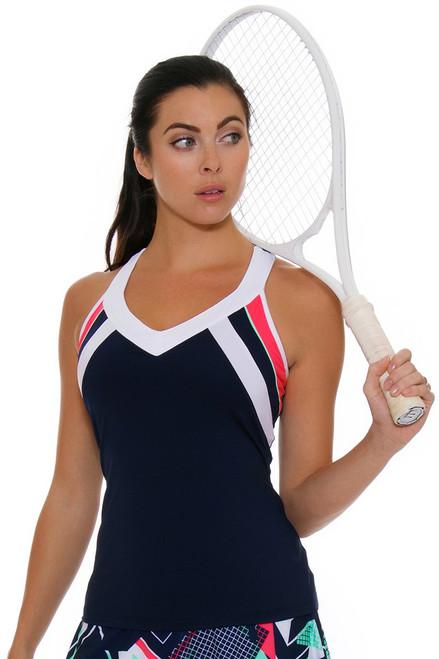 Fila Women's Heritage V- Neck Racerback Navy Tennis Tank