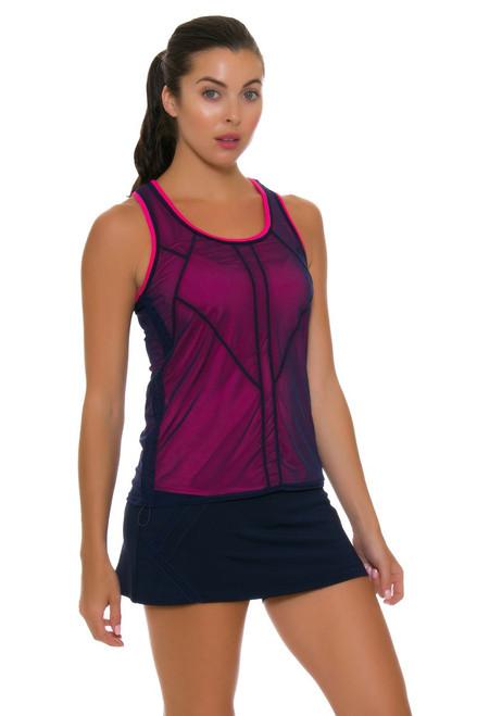 Lucky In Love Women's Athena Zip Line Tennis Skirt