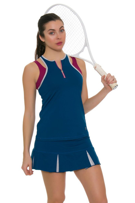 "Sofibella Women's Flavor Of Wine 13"" Pleated Tennis Skirt"