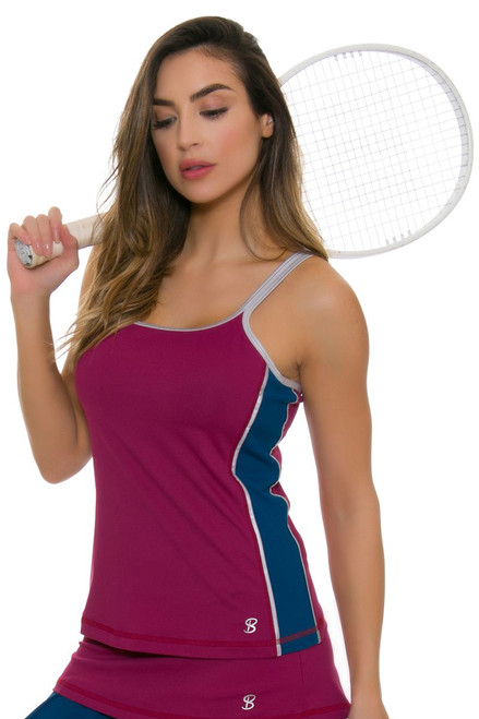 Sofibella Women's Flavor Of Wine Athletic Tennis Cami Tank