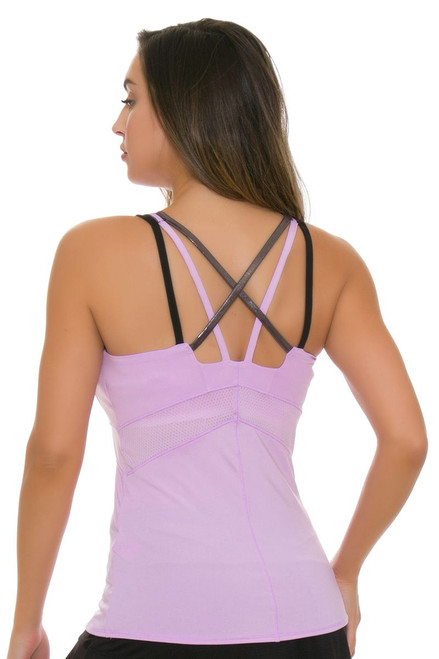 Lucky In Love Women's Hyper Wave Shock Cami Tennis Tank LIL-CT407-508 Image 2