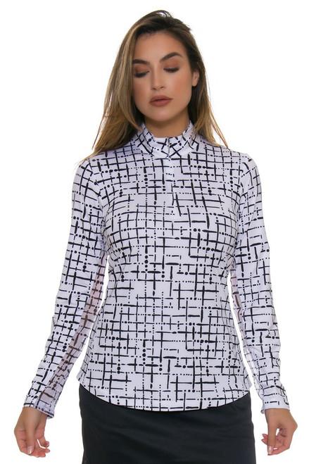 EP Pro NY Women's Basics Abstract Print Golf Long Sleeve Shirt