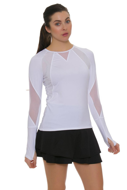Lucky In Love Women's Core Long Flip Tier Tennis Skirt