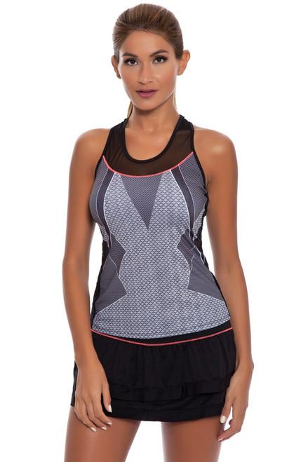 Border Tier Tennis Skirt