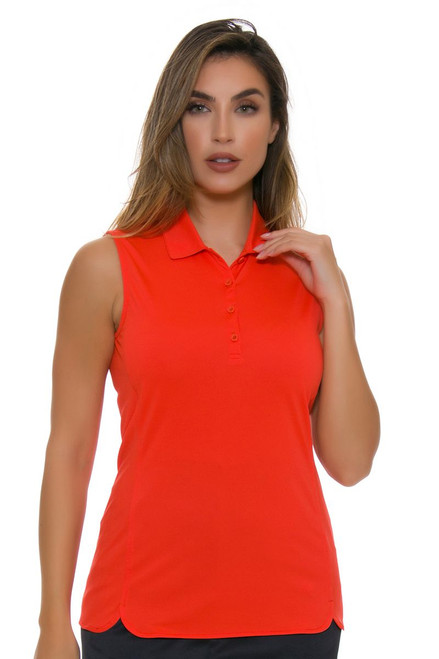 EP Pro NY Women's Basics Tiger Lily Performance Jersey Golf Sleeveless Shirt