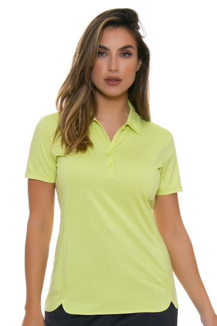 EP Pro NY Women's Basics Celery Performance Jersey Golf Short Sleeve Polo