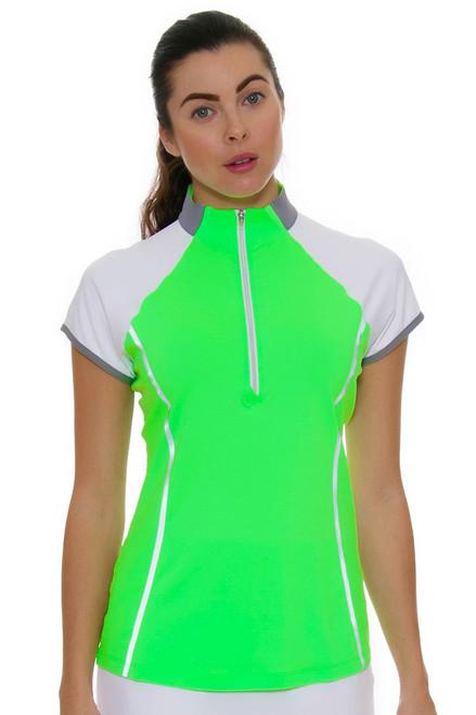 Annika Women's Eclipse Clutch Mock Golf Cap Sleeve Shirt