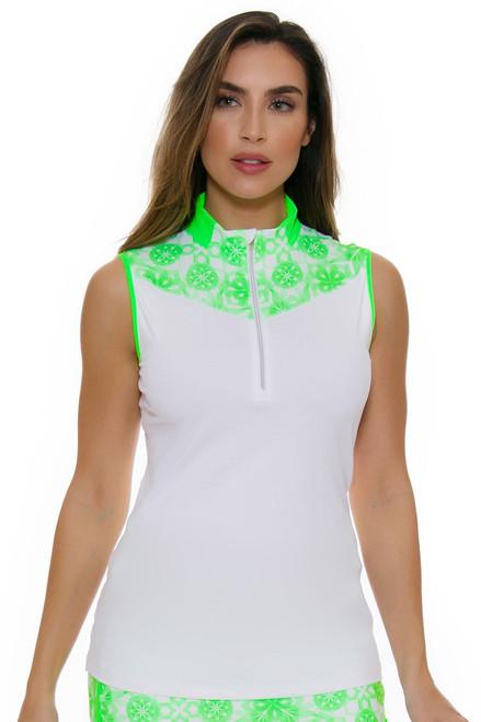 Annika Women's Eclipse Mock Golf Sleeveless Shirt