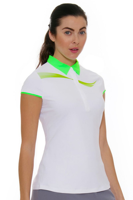 Annika Women's Eclipse Draft Golf Cap Sleeve Shirt