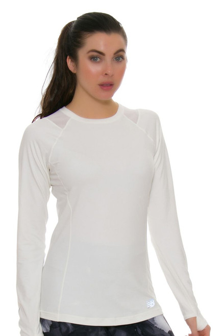 New Balance Women's Sea Salt In Transit Long Sleeve NB-WT73119-SST Image 1