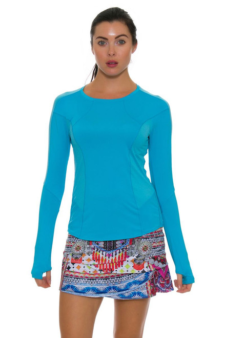 Lucky In Love Women's Nepal Print Scallop Tennis Skirt