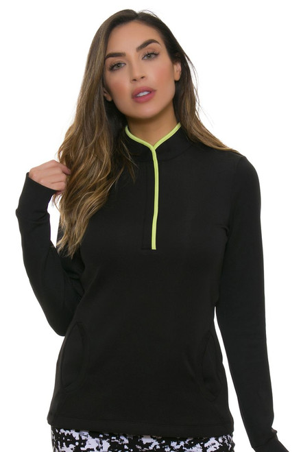 EP Pro NY Women's Culture Clash Zip Mock Golf Long Sleeve Pullover