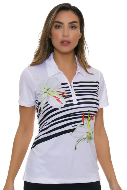 EP Pro NY Women's Culture Clash Placed Print Golf Short Sleeve Shirt