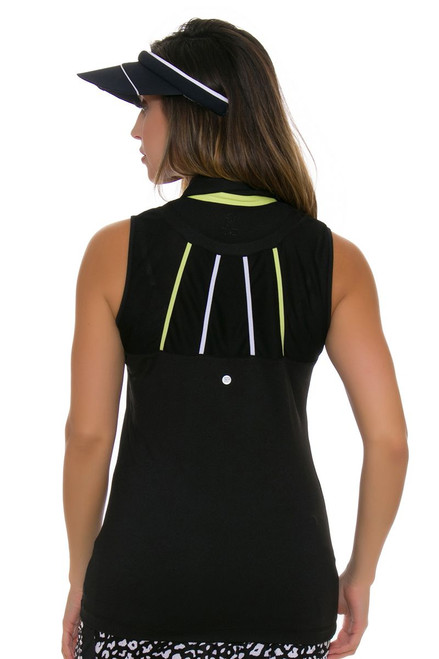 EP Pro NY Women's Culture Clash Zip Mesh Blocking Golf Sleeveless Shirt