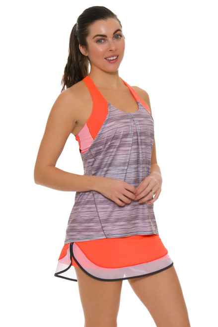 Lucky In Love Women's Spaced Out Mesh Border Tennis Skirt