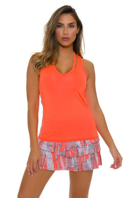 Lucky In Love Women's Spaced Out Limitless Pleat Scallop Tennis Skirt
